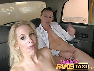 FemaleFakeTaxi Firemans surprise gushing facial compilation