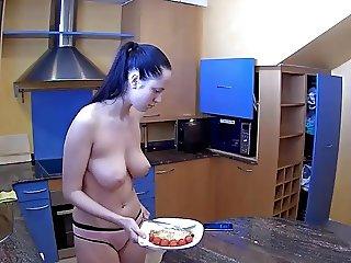 Danaya in the kitchen