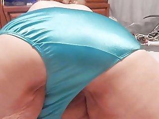 SHINEY BLUE PANTIES