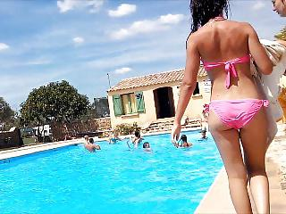 nice tees butts at pool