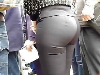 sexy ass MILFY tight black pants