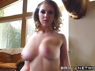 Big titted beauty Brooke Wylde riding a horny guys fat cock