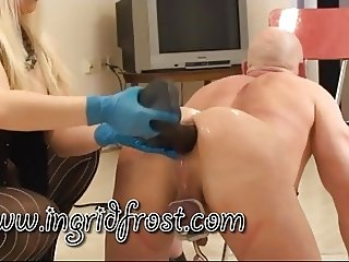 MEGA  HUGE  DILDO  ASS FUCKING ! BEND OVER WHORE !