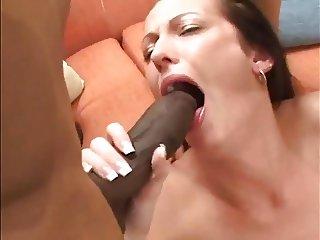 White Girl In Rough Interracial Threesome
