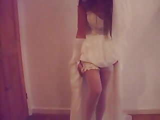 Watch this bride take off her panties!