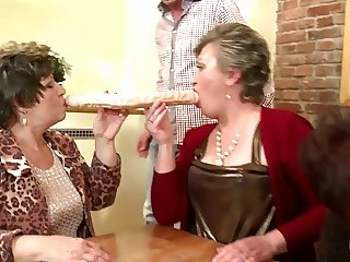 Grannies and mothers fuck young meat