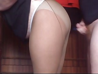 cum on pantyhose my mom