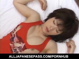 Kasumi Uehara hot Asian cheerleader gets felt up and fucked hard