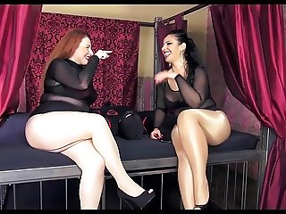 two mistress pantyhose facesitting