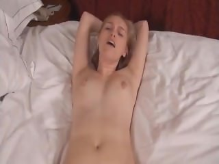 POV brother fuck his blond sister for the first time and creampie