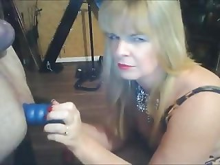 CHEEKY UK DOMME HAS FUN WITH HER SUB