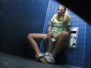 What are you doing in public toilet ?