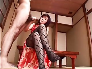 Japanese Girl Black Pantyhose