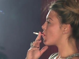 Beautiful smoking Ava