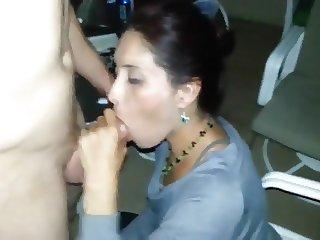 Sexy Wife Blowing Of Husband Friend Like A Pro