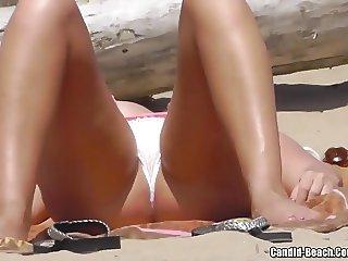 Bikini Cameltoe Milf Beach Voyeur HD Video