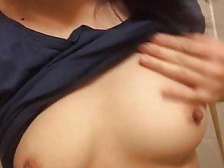 Korean girl shows boobs