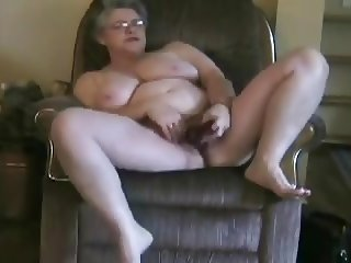 Mature masturbating and cumming