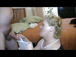 Great GRANNY FUCK AND CUM on her face