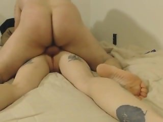 Tattoo couple anal home POV