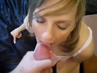 Cum hungry young wife sucking at 69real.com