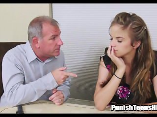 Teen Daughter Tries To Impress Daddys Associate