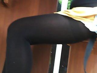 Hot Legs Pantyhose Voyeur Turkish Girl