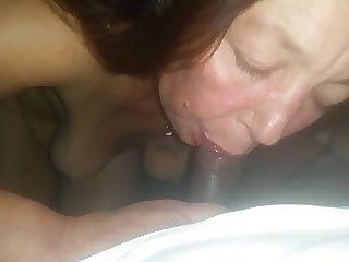 Milf Sucking my dick...