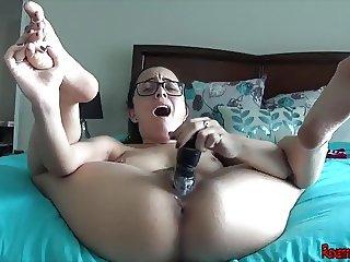 Fucking My Dildo In A Bikini SOLO ORGASM