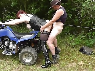 Beautiful dutch mature in outdoor bare fuckparty