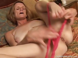 Slutty old spunker wishes you were fucking her juicy pussy