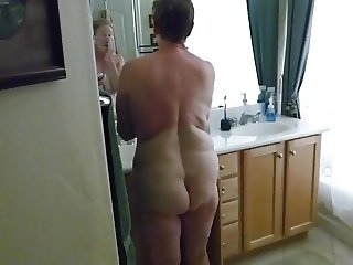 Grandpa's Booty - Tina out of the shower