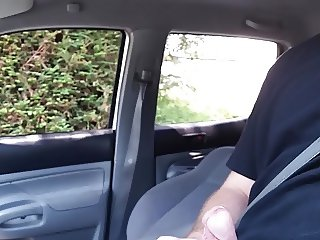 Caught masturbating in car