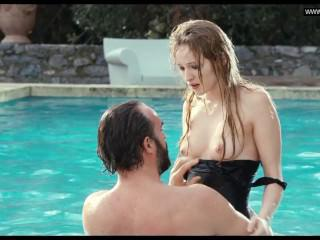Christa Théret - Topless in a swimming pool - La Bruit Des Glacons (2010)