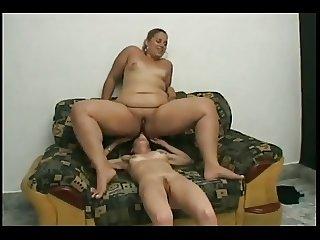 Slut Fat BBW Lesbians love licking wet shaven pussy juice-4