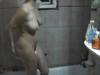 Compilation of mature amateur natural tits under shower