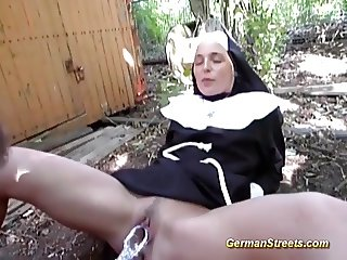 nun picked up for sex on street