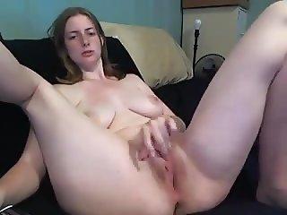 Amateur - Cute Teen Milking Tits & Deep Fingering on Cam