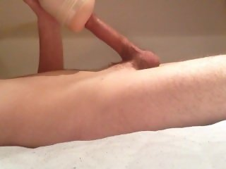 Fucking a fleshlight to orgasm