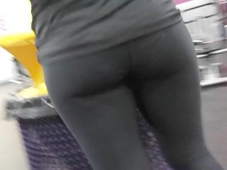 Candid 02 ass, hidden cam slow mo, hot gym girl black tights