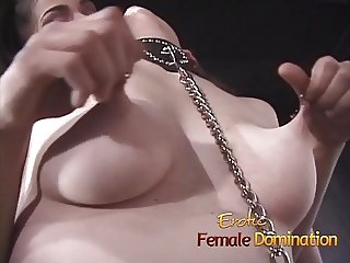 Busty slave gets taken through the hot world of pain