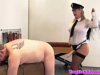 Police domina flogging and analfingers unimportant prisoner sub