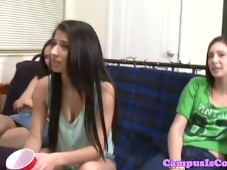 Petite teen coed knows how to suck cock