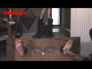 Intense Tickle Torture in Stocks