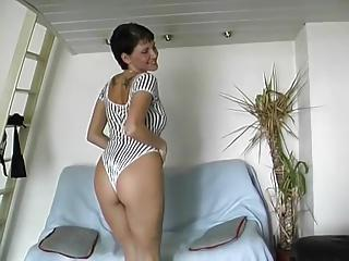 Amazing Body French Milf Plays with a rolling pin