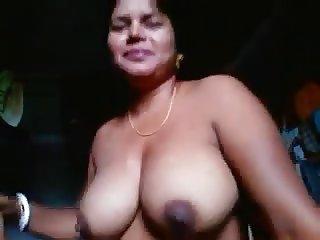 Wondrous amateur Indian busty plump slut showed