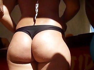 Candid latina beach big ass 10