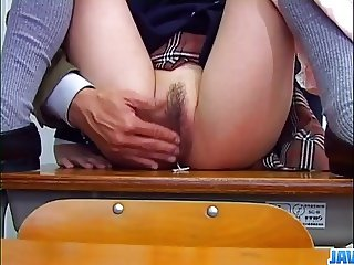 Nana Kurosaki makes magic with her hairy pussy