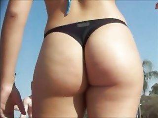 Candid latina beach big ass 15
