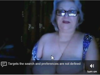 russian granny ex teacher flashing her big tits on webcam omegle
